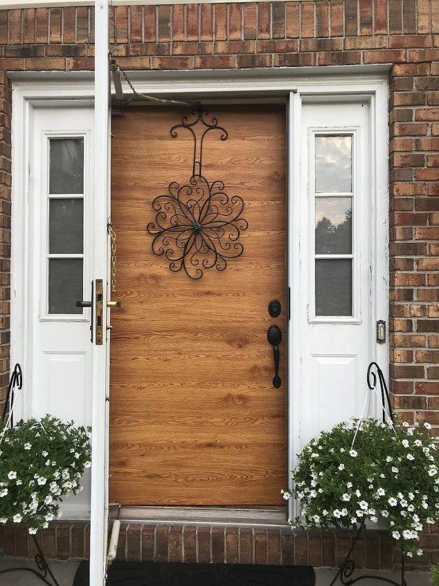 faux wood front door
