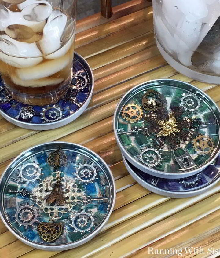 s 20 ways to incorporate mosaics to your home, Steampunk Coasters