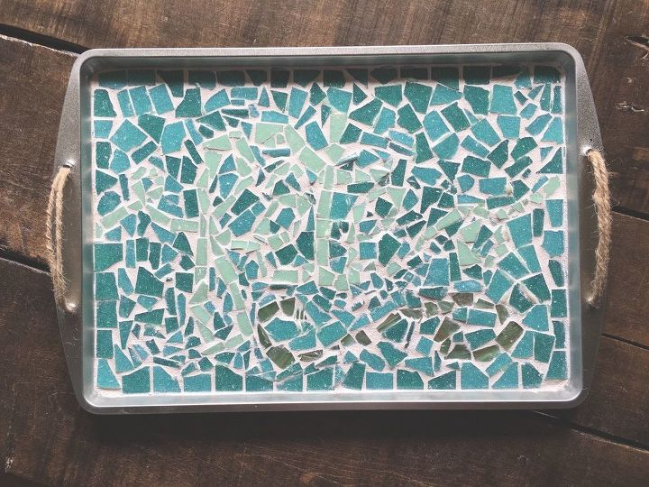 s 20 ways to incorporate mosaics to your home, Cookie Sheet Serving Tray