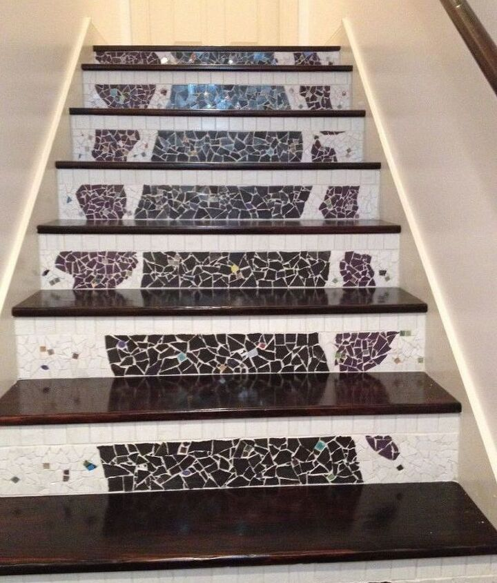s 20 ways to incorporate mosaics to your home, Transformed Stairs