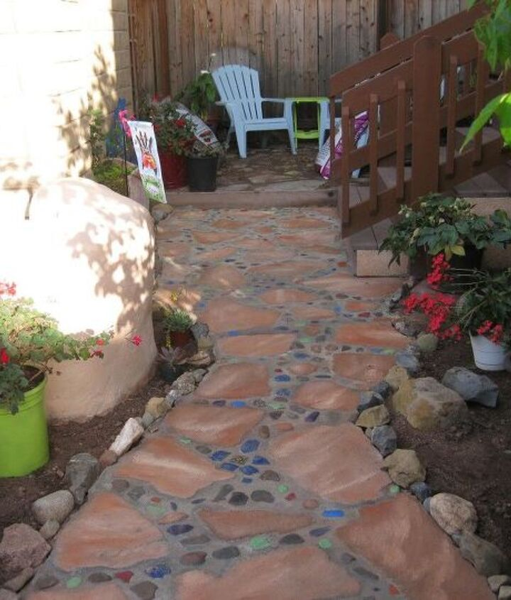 s 20 ways to incorporate mosaics to your home, Mosaic Walkway