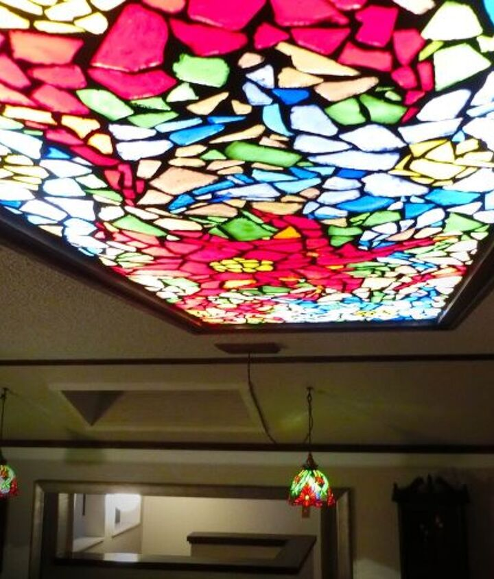 s 20 ways to incorporate mosaics to your home, Mosaic Glass Light