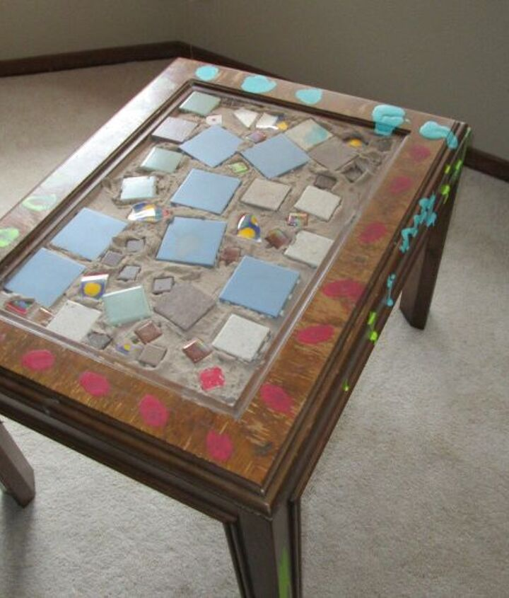 s 20 ways to incorporate mosaics to your home, Decorated Coffee Table