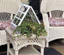 micro mini greenhouse planter