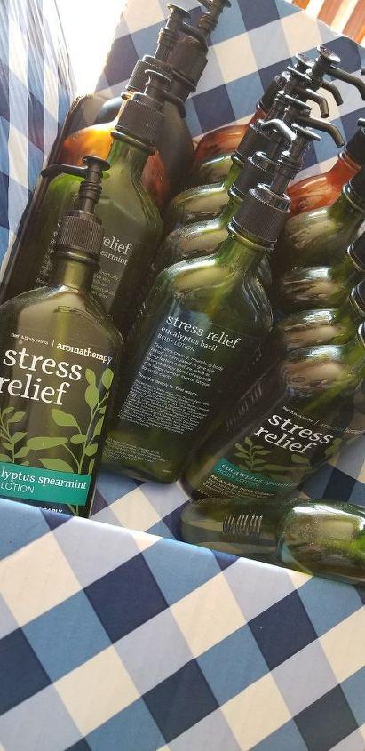 upcycled lotion bottles
