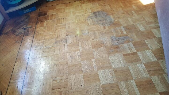 q we have a hardwood living room floor that we would like to refinish