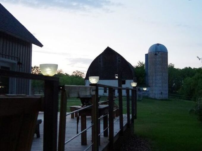 post solar lights using glass chandelier bowls and dollar store lights