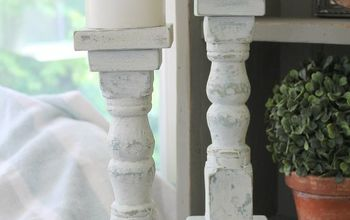 How to Make Candlestick Holders From Old Spindles