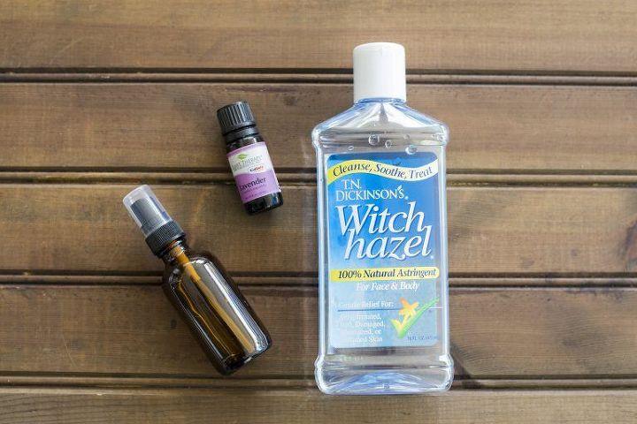 homemade lavender linen spray to freshen up fabrics
