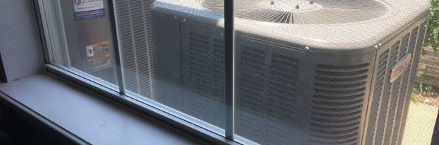 q air conditioner desguise from inside the house