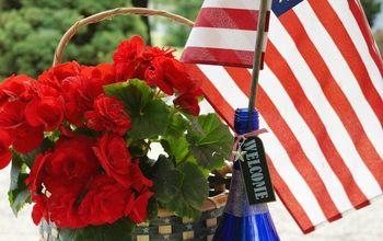 patriotic etched wine bottle