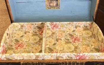 how to upholster an 1896 trunk