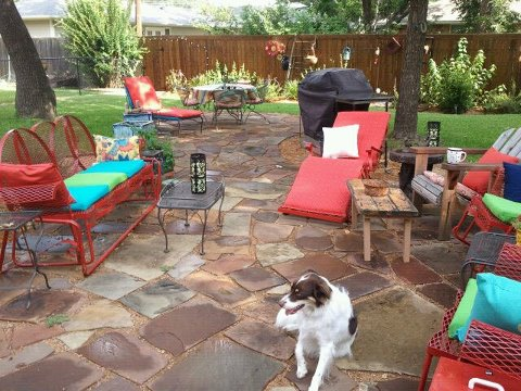 s get the outdoor space you ve always dreamed of with these diy ideas, Install a flagstone patio
