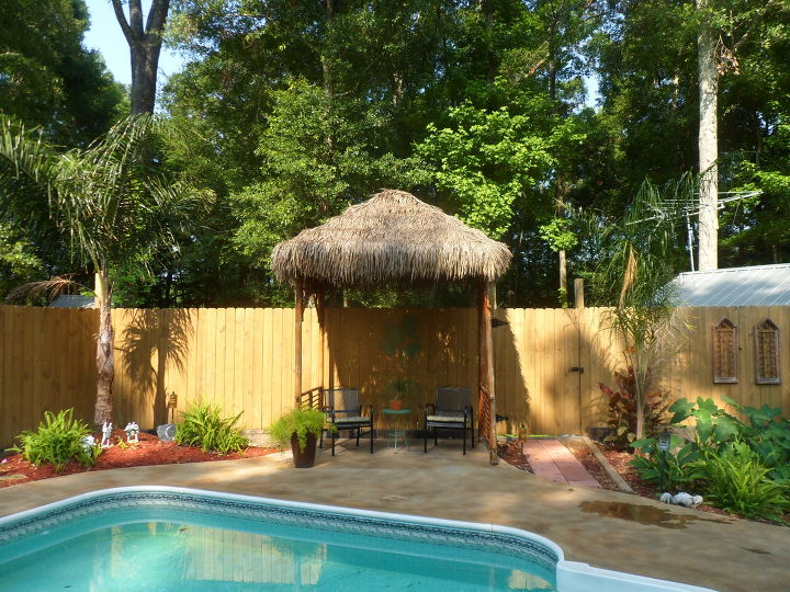 s get the outdoor space you ve always dreamed of with these diy ideas, Make a tiki hut using repurposed materials