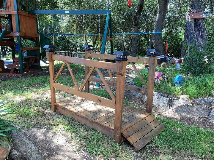 s get the outdoor space you ve always dreamed of with these diy ideas, Build a wooden garden bridge