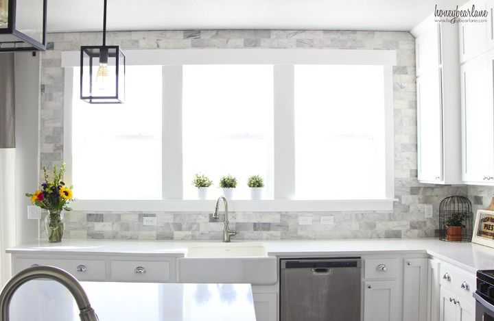 s 17 diy inspiring kitchen backsplashes, Get A Marble Look