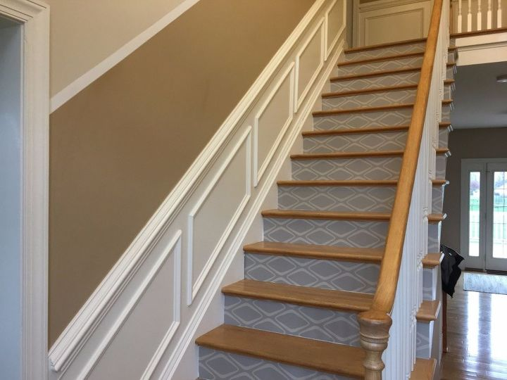 s does your staircase need an update, Vinyl Wallpaper