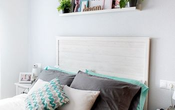 DIY Rustic Wooden Headboard
