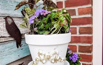 how to make beautiful applique clay flower pots with efex