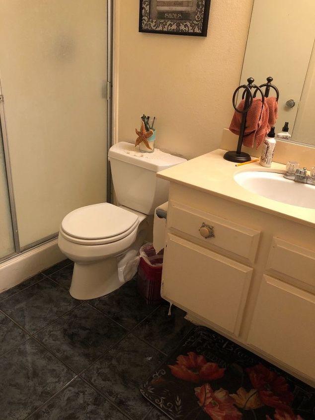 q 70s bathroom makeover