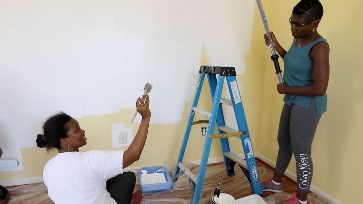 s do you want to make over a room in your home, Step 2 Paint two walls white