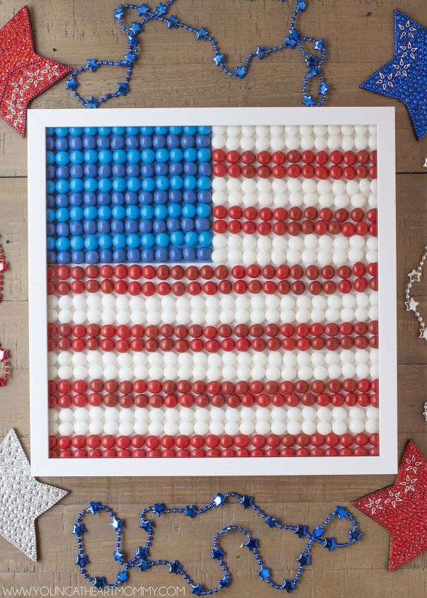 s 15 unusual flag ideas that actually look amazing, Arrange Skittles In A Framed Picture