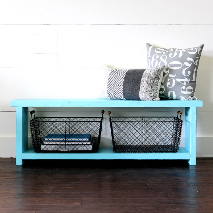 s 21 pieces of furniture that diyers made from scratch, This Farmhouse Style Storage Bench