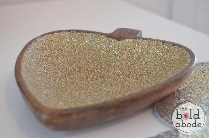 s 18 fun ways to add glitter to your home decor, Heart Shaped Dish