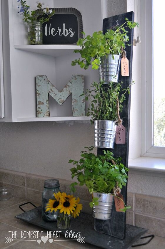 s these herb garden ideas will make you want to start one of your own, Simple Vertical Herb Garden