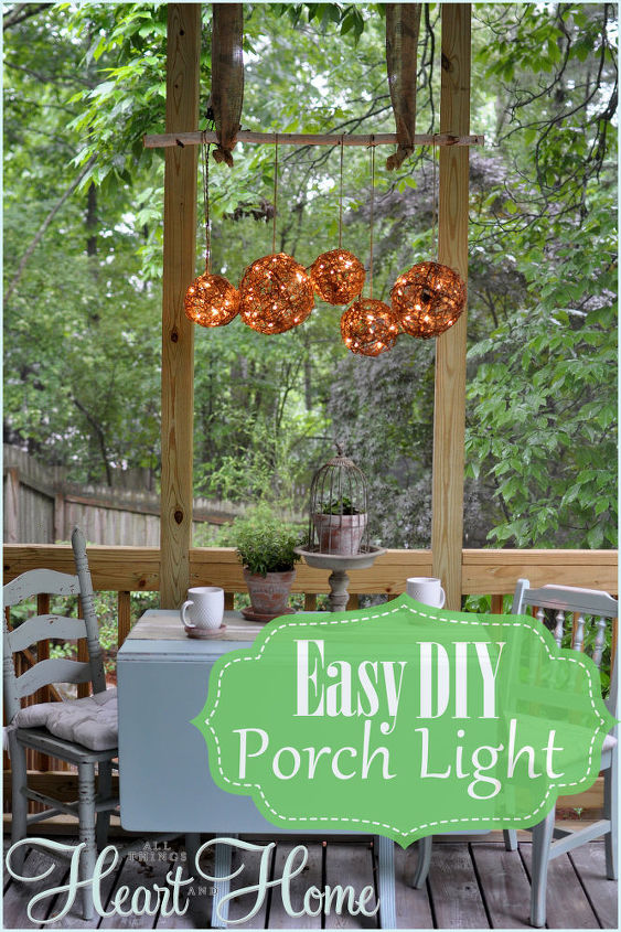 s 30 fun way to brighten up your backyard this summer, Hang a rustic grapevine luminary