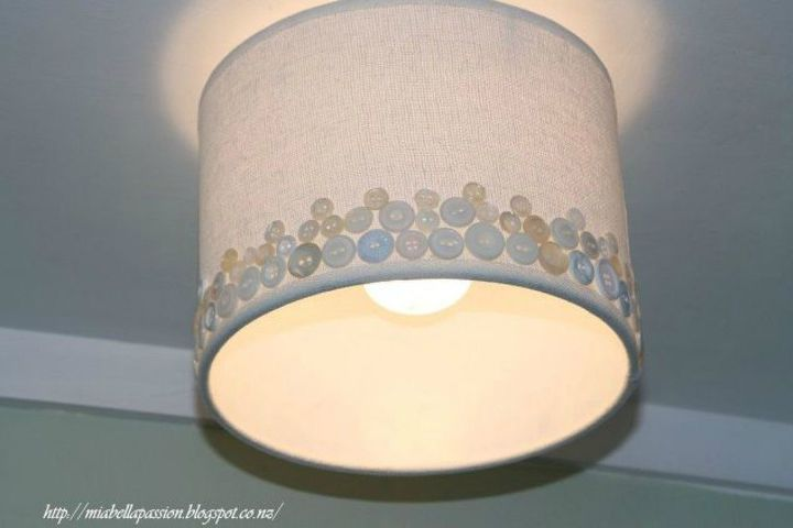 s 15 quick and easy gift ideas using buttons, Or use them to upgrade your plain drum shade