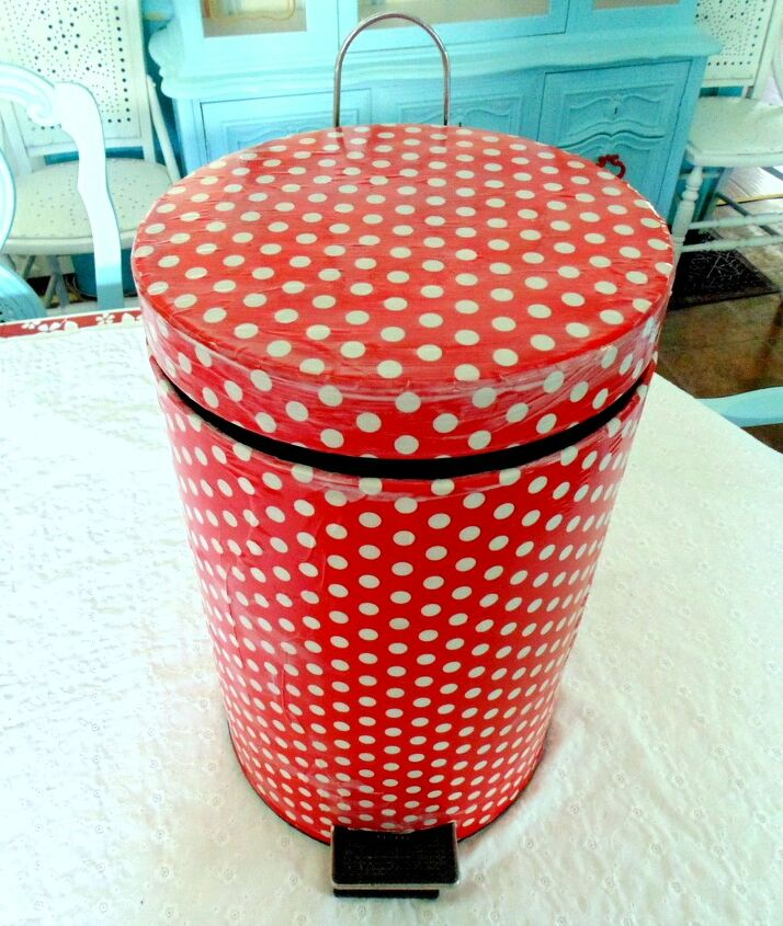 s 21 ways to have more polka dots in your life, Funky Garbage Bin