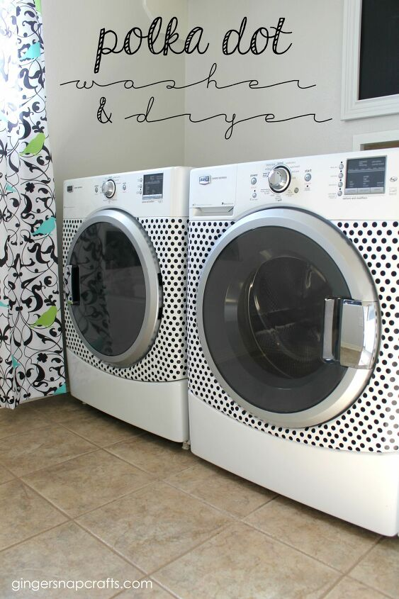 s 21 ways to have more polka dots in your life, Styled Washer Dryer