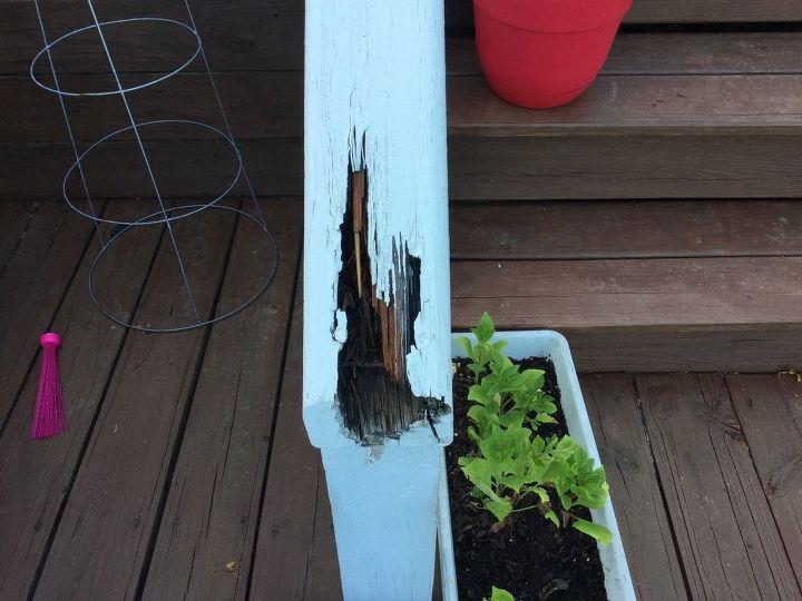 q how do i repair a rotting hand railing