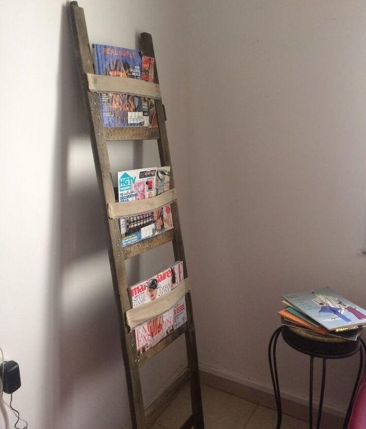 ladder to easy peasy magazine rack
