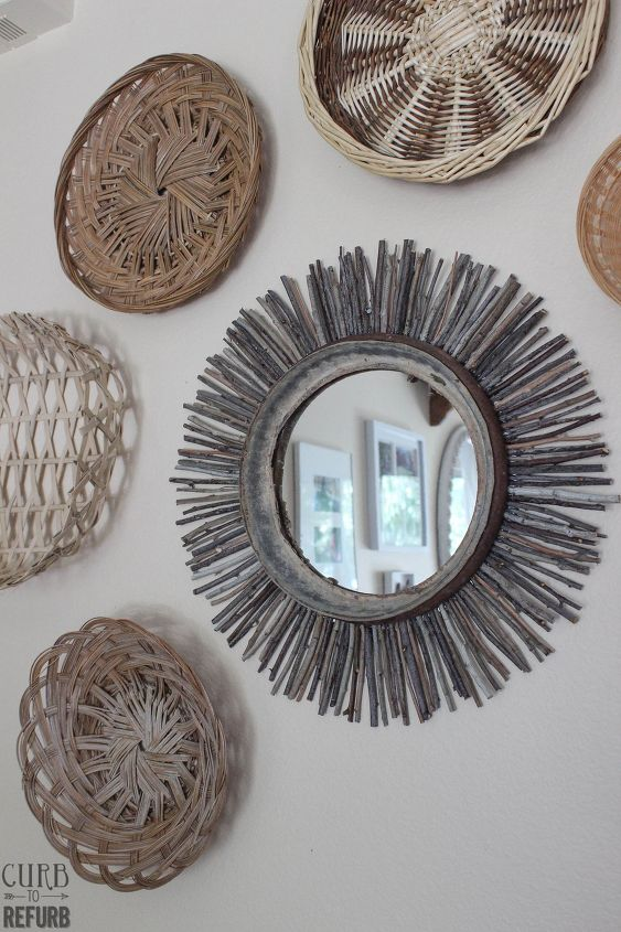 s 30 ways to turn a mirror from drab to fab, Twig Mirror