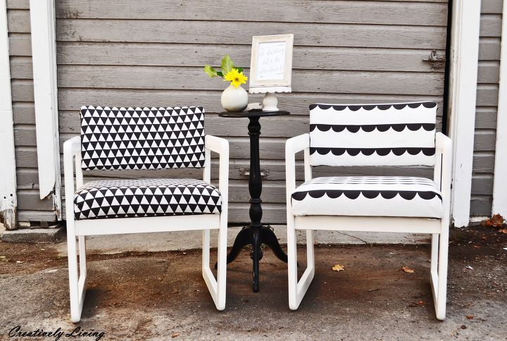 s 15 easy diy projects that you can do this weekend, His Hers Chair Makeover