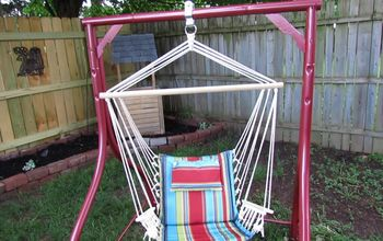 diy hammock chair from an old swing frame