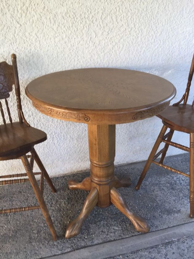 q i need some ideas for this old table and chairs