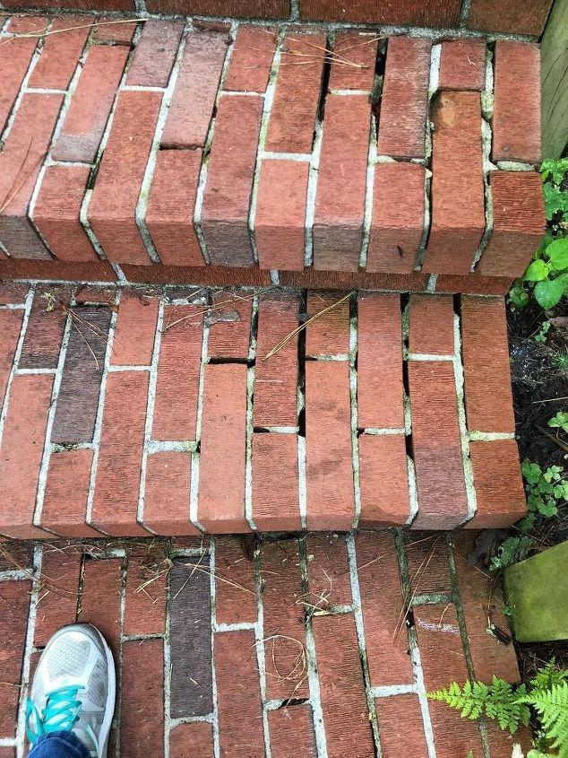 q repairing brick steps