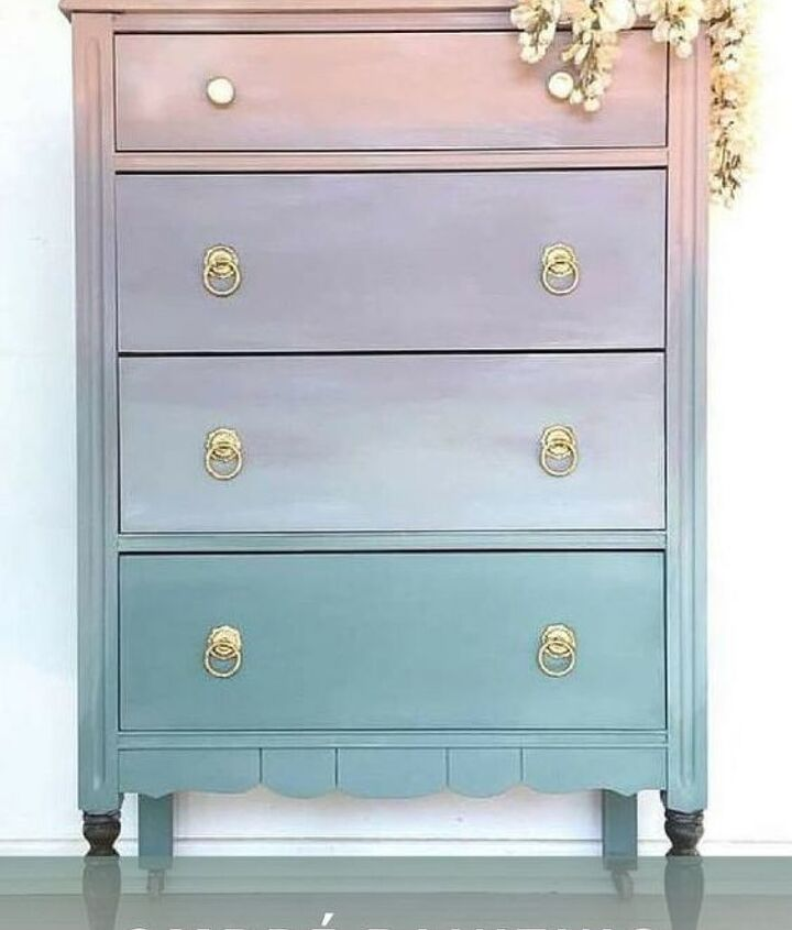 how to paint ombr furniture