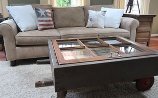 upcycled hand cart coffee table version ii