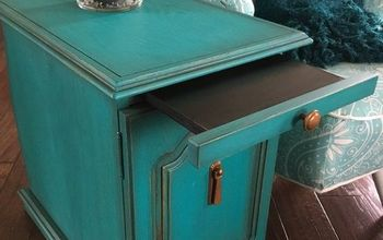 end table goes teal