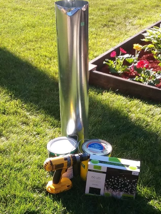 stove pipe outdoor solar lighting