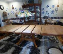 oak table update from so so to ooohhh la la