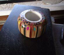 coloured pencil napkin ring