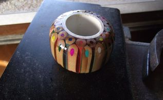 coloured pencil napkin ring
