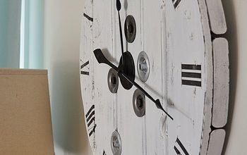 Turn a Wood Cable Reel Into a Farmhouse Clock