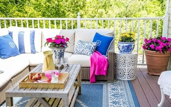 outdoor living spaces updating the patio with summer color