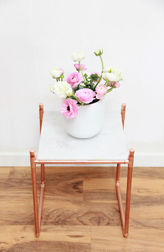 s gardeners copy these 20 stunning ways to display your plants, Bend Copper Pipe Into a Shining Plant Stand